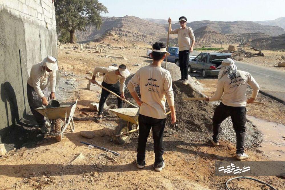 ساخت منزل مسکونی برای خانواده دارای ۸معلول در طارمسفلی/۷۰۰ گروه جهادی در قزوین ثبت شد