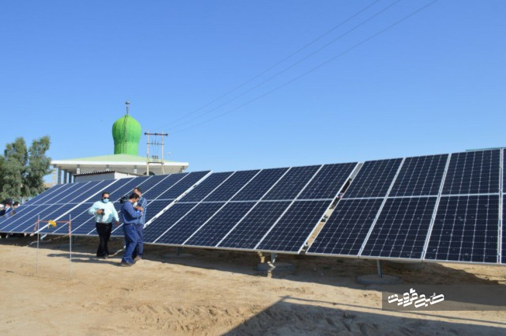 ۵نیروگاه خورشیدی در بقاع متبرکه قزوین راهاندازی میشود