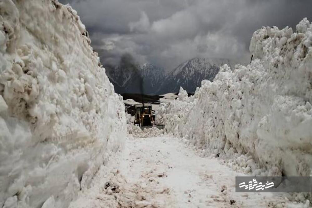بلندترین گردنه برفگیر استان قزوین بازگشایی شد