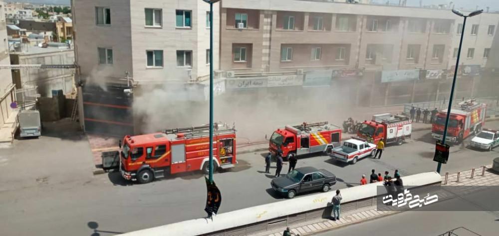 حریق در پارکینگ طبقاتی شهید انصاری مهار شد
