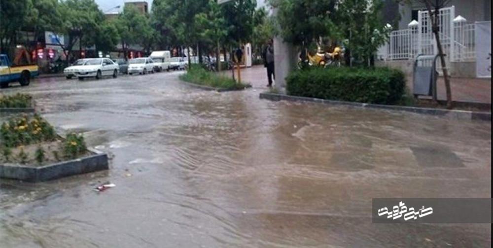 هشدار درباره احتمال وقوع سیلاب و آبگرفتگی معابر در قزوین