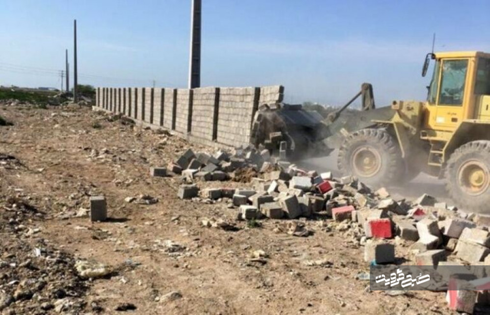تخریب ۱۲ مورد ساخت و ساز غیرمجاز در قزوین