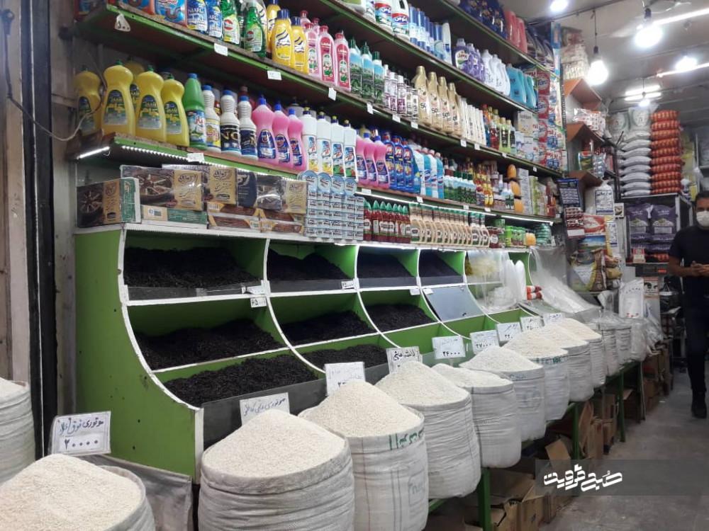 ساز ناکوک بازار قزوین در روزهای کرونایی+ لیست اقلام