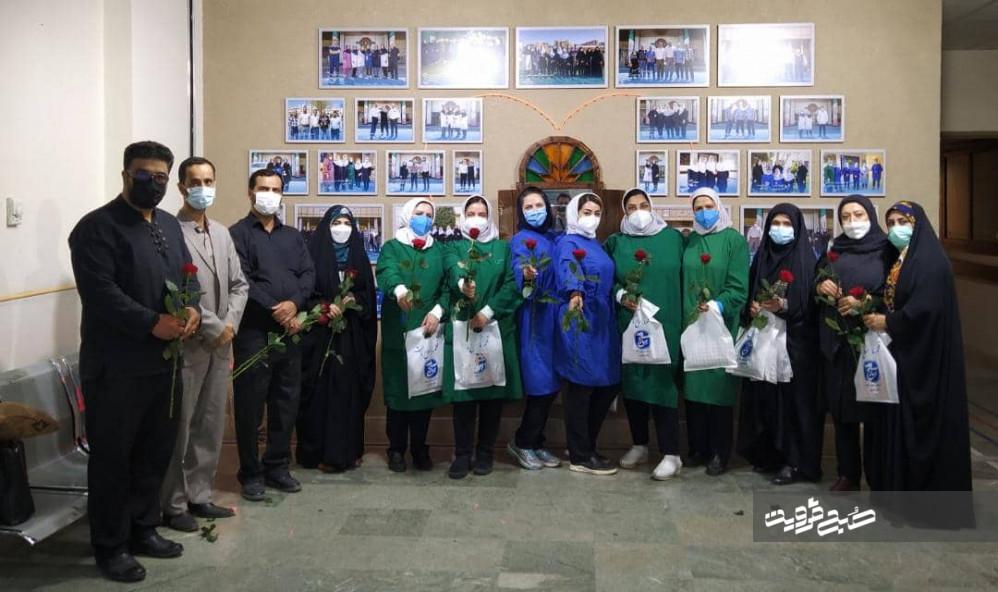 خبرنگاران بسیجی با کادر درمان بیمارستان ولایت قزوین دیدار کردند