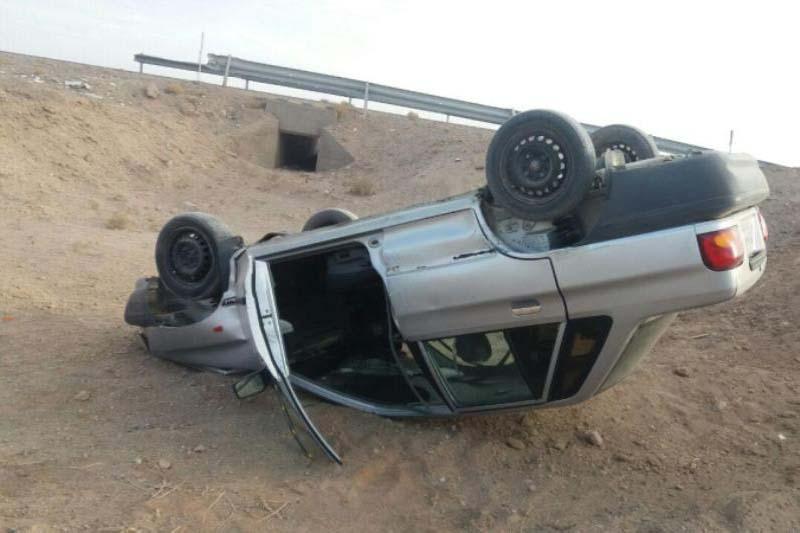واژگونی سواری پژو در قزوین