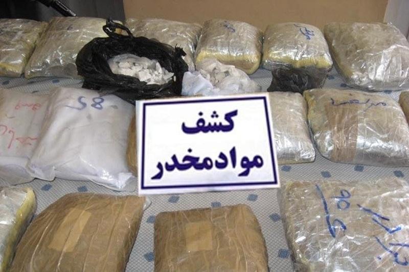 ناکامی سوداگران مرگ در قاچاق ۶۷ کیلو مواد مخدر در قزوین