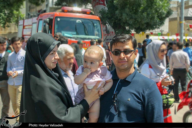 نمایی از حضور مردم استان قزوین در راهپیمایی روز قدس+تصاویر
