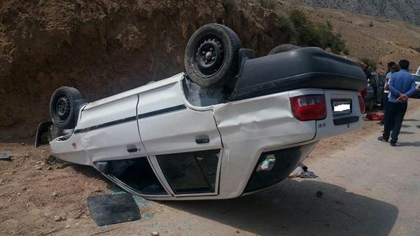 واژگونی پراید در تاکستان ۳ کشته و مصدوم برجای گذاشت