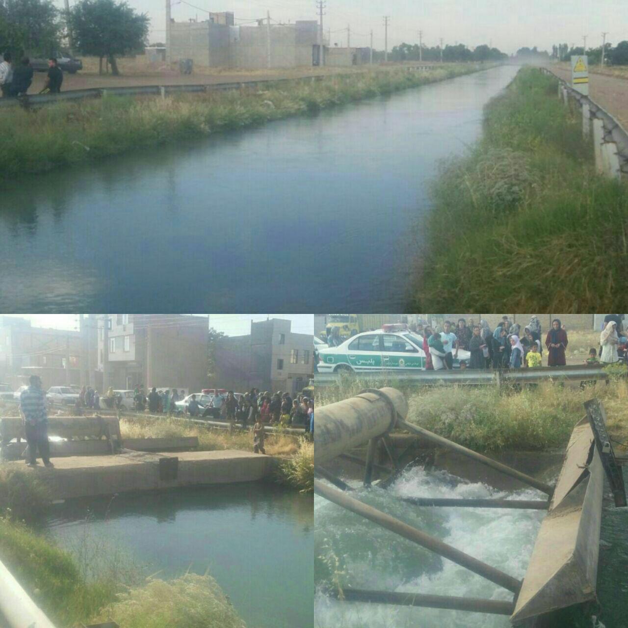 غرق شدن پیرمرد مسافر در کانال آب قزوین