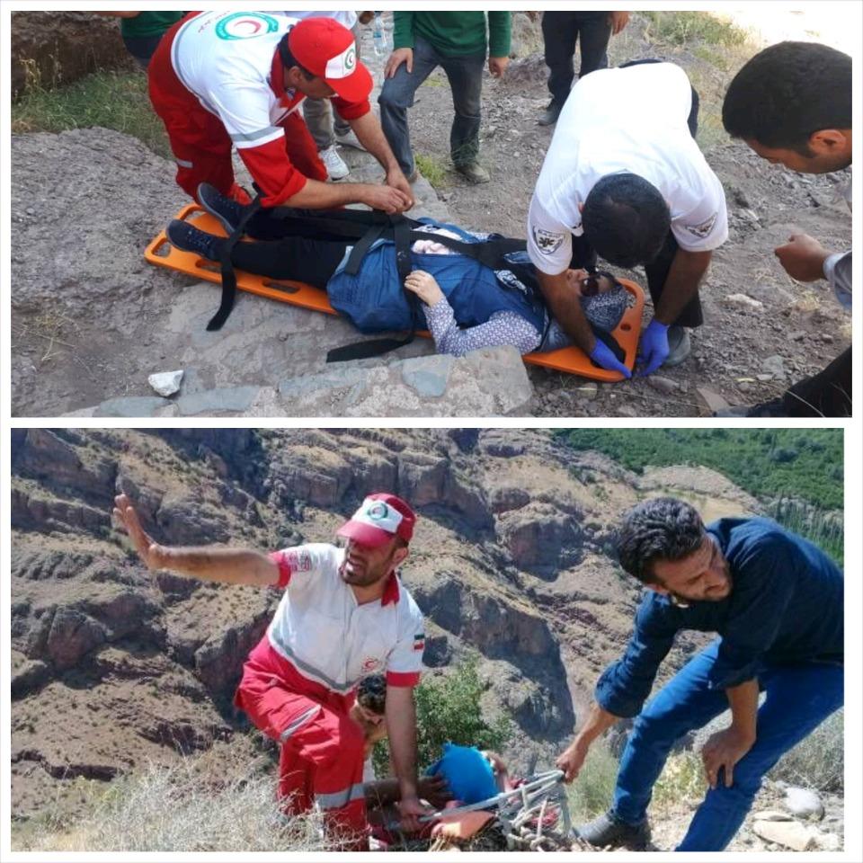 دو کوهنورد قزوینی با سقوط از ارتفاعات مصدوم شدند