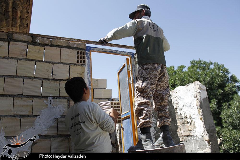 ساخت و بازسازی ۳۴ واحد مسکونی سیلزده در لرستان