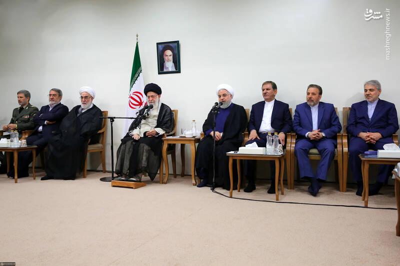 عکس/ دیدار روحانی و هیات دولت با رهبر انقلاب