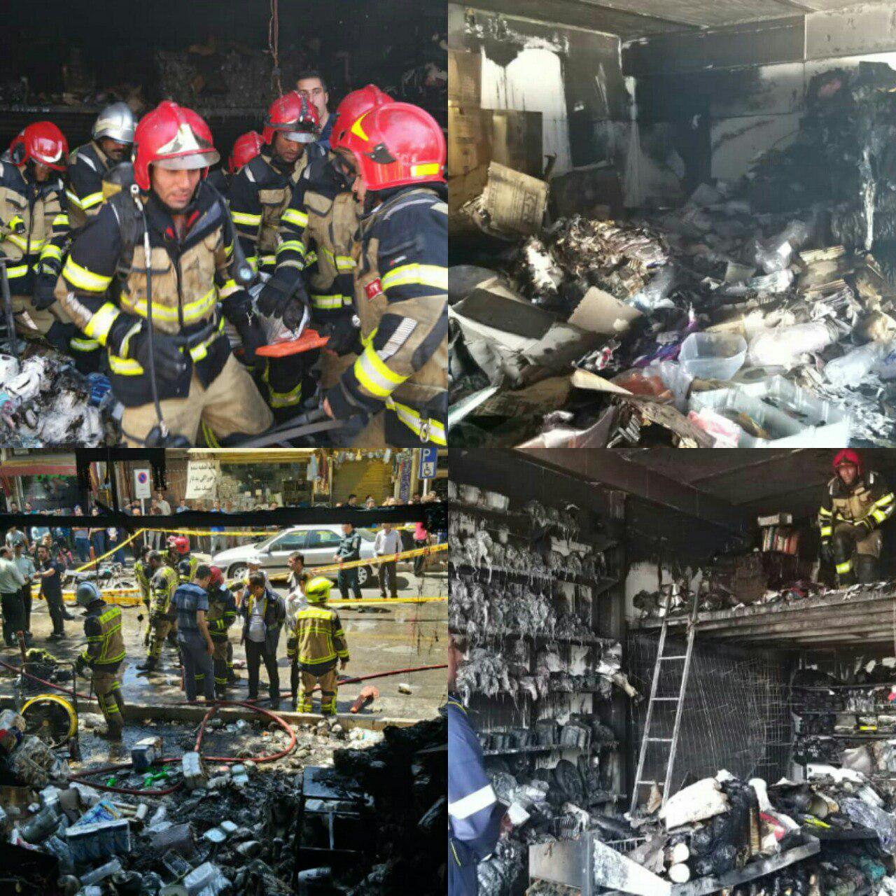 انفجار در مغازه لوازم جشن تولد ۲کشته و مصدوم برجای گذاشت+تصاویر