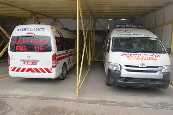 پایگاه اورژانس قزوین میزبان ۱۸مسافر مسموم اتوبوس ارومیه شد