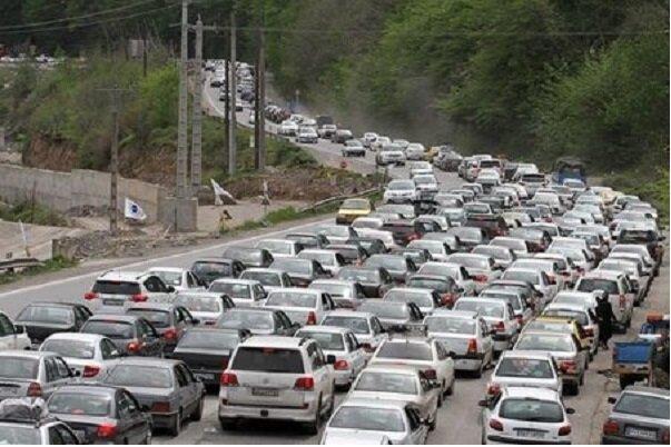 ترافیک سنگین در محورهای مواصلاتی قزوین