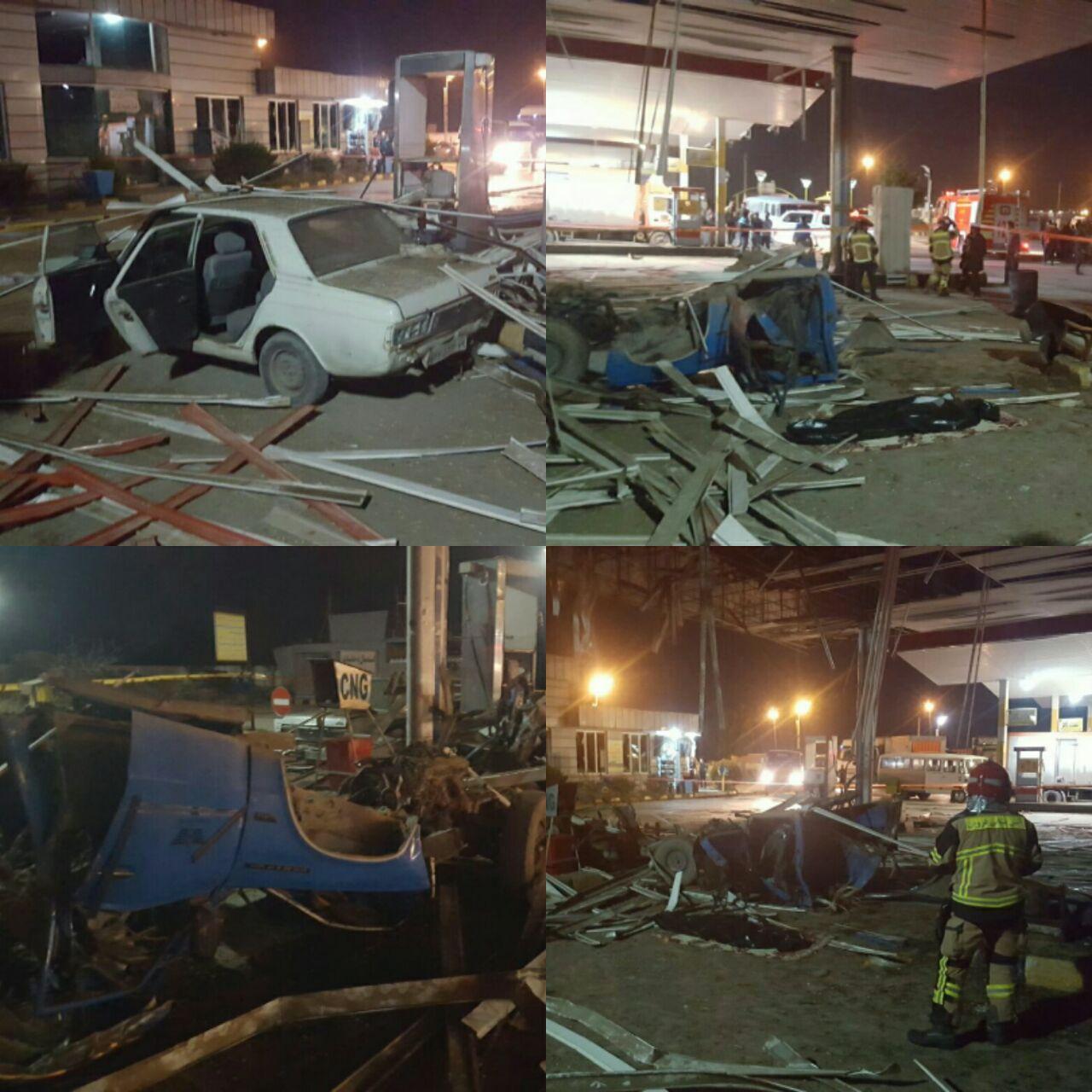 انفجار خودروی نیسان هنگام سوختگیری یک کشته بر جای گذاشت