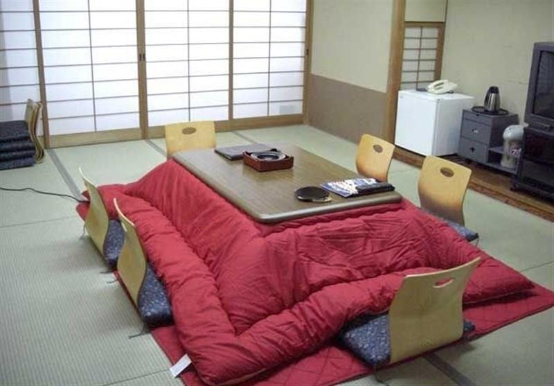 """ژاپنیها خود را مقید به استفاده از """"کرسی"""" برای حفظ سلامتی خود میدانند! + تصاویر"""