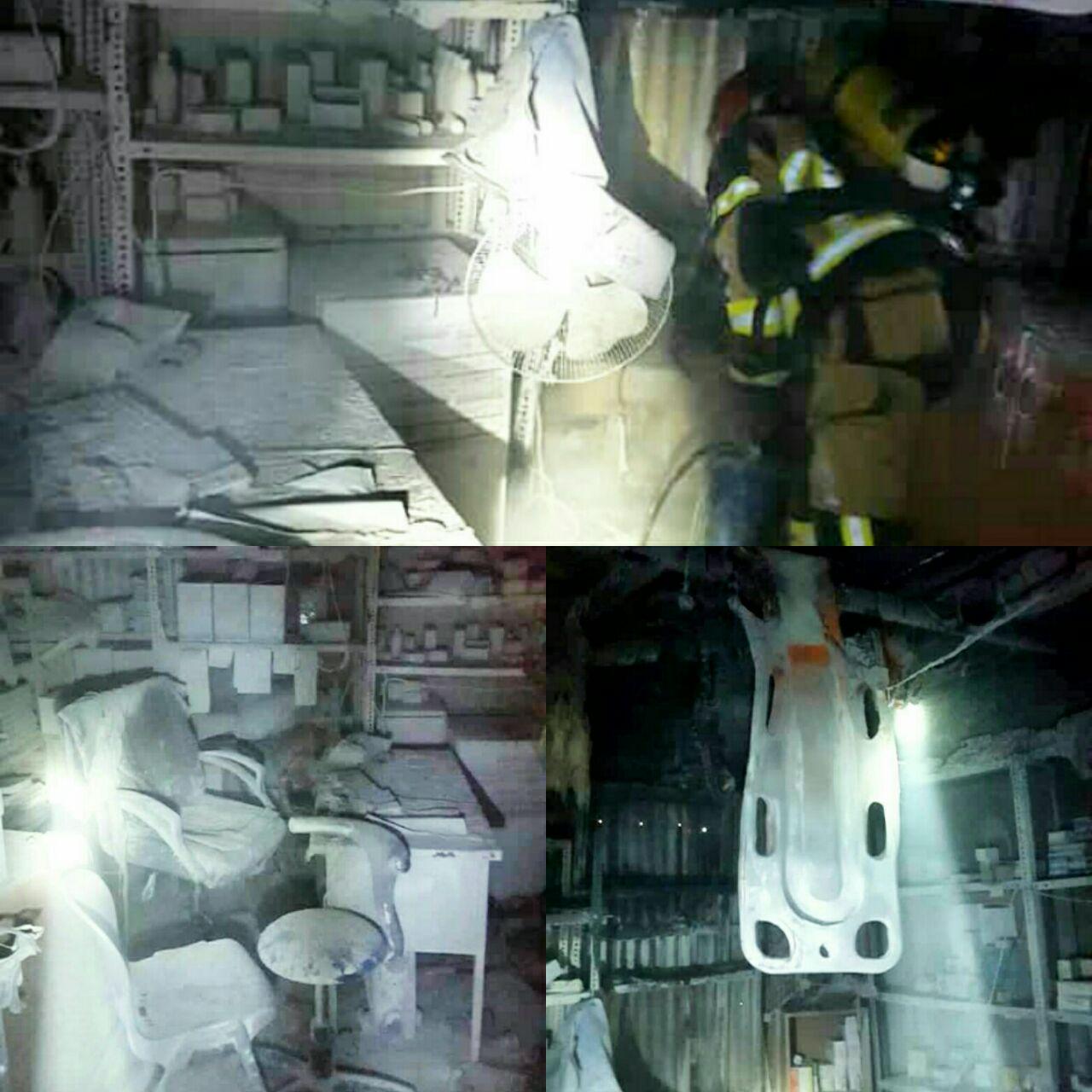آتشسوزی انبار بیمارستان شهید رجایی قزوین مهار شد