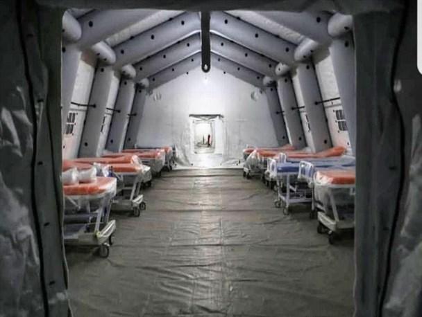 احداث بیمارستانهای صحرایی با بیش از ۷۵۰۰ تخت بستری و نقاهتگاهی