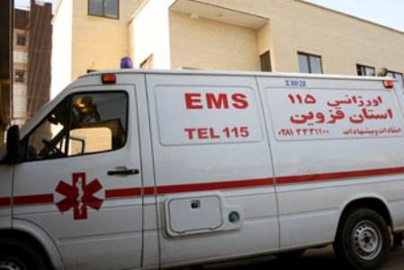 نجات پسر ۱۴ ساله حادثه دیده توسط اورژانس قزوین