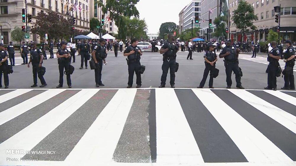 حصار امنیتی پلیس در اطراف کاخ سفید
