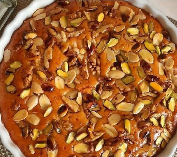 طرز تهیه کیک آجیلی