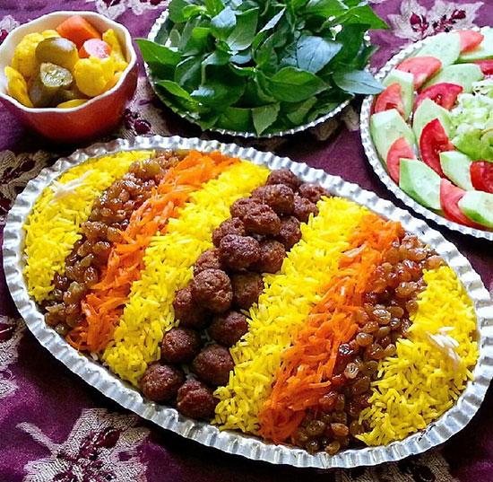 طرز تهیه ساطری پلو غذای محلی خراسان