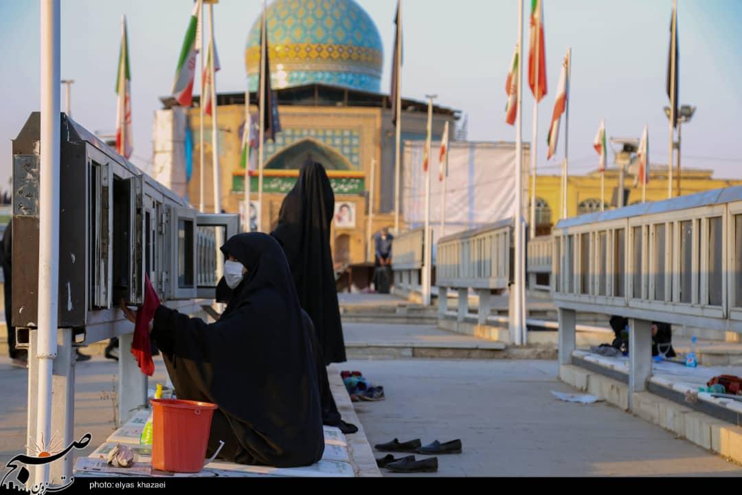 ۴۰ سالگی دفاع مقدس بهانهای برای غبارروبی مزار شهدای قزوین شد+تصاویر
