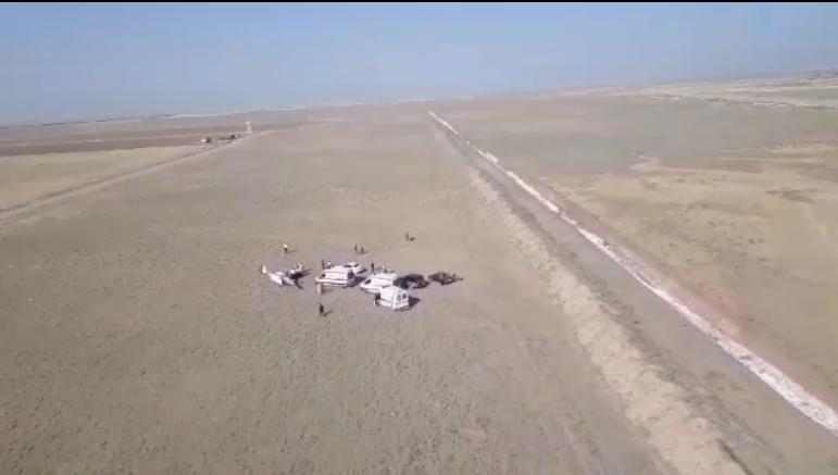 سقوط هواپیمای آموزشی در قزوین دومصدوم برجای گذاشت + فیلم