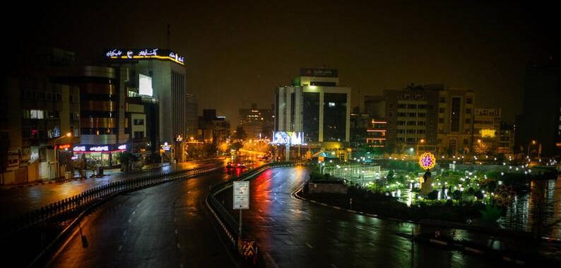 عکس/ تهران بعد از ساعت ۲۱